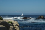Sailboat near Pacific Grove